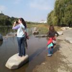 Taking photos at Lake Park