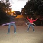 Nick & Lisa hula hooping