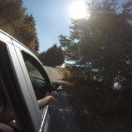 Driving up to trailhead
