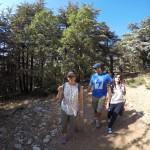 Caline, Agop and Marale enjoying nature
