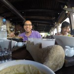 Agop and Oy enjoying lunch