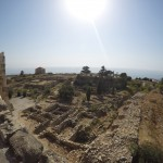 View from atop a tower in Byblos