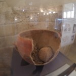Burial pot with baby skeleton in Byblos