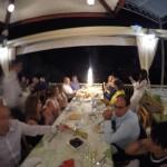 Family dinner before wedding