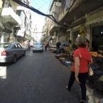 Shops along both sides