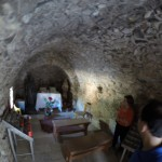 Inside the very old church