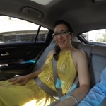 Being driven to the wedding