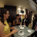 Pre-ceremony reception for Agop's side