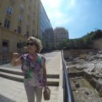 Lena taking us to see Roman baths