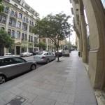 Walking in downtown near parliament