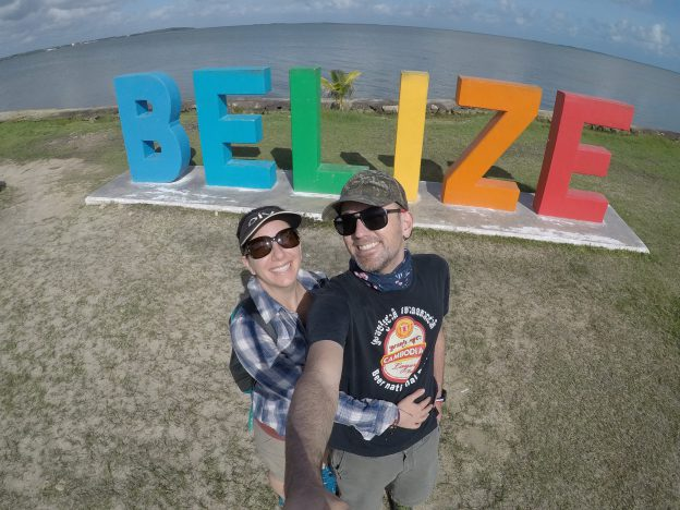 Belize city sign