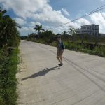 Walking in the nicer parts of Belize city