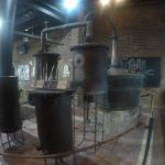 Old rum distilling apparatus