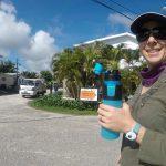 Walking around near hotel in Belize city