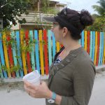 Morning walk on Caye Caulker