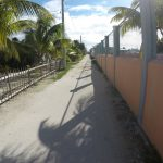 One of the main streets on Caye Caulker